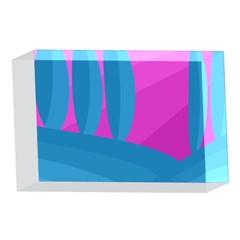 Pink and blue landscape 4 x 6  Acrylic Photo Blocks