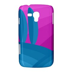 Pink and blue landscape Samsung Galaxy Duos I8262 Hardshell Case