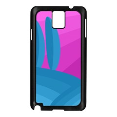 Pink and blue landscape Samsung Galaxy Note 3 N9005 Case (Black)