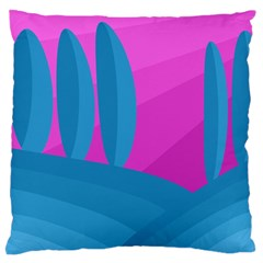 Pink and blue landscape Large Flano Cushion Case (Two Sides)