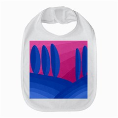 Magenta and blue landscape Bib