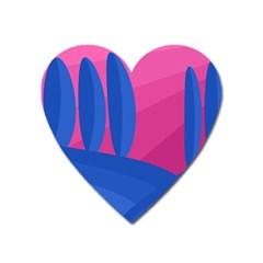 Magenta and blue landscape Heart Magnet