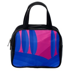 Magenta and blue landscape Classic Handbags (One Side)