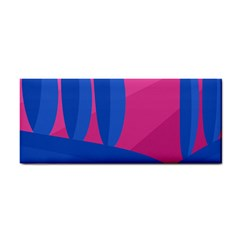 Magenta and blue landscape Hand Towel