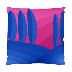 Magenta and blue landscape Standard Cushion Case (Two Sides)