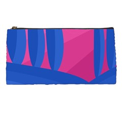 Magenta and blue landscape Pencil Cases