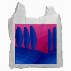Magenta and blue landscape Recycle Bag (Two Side)