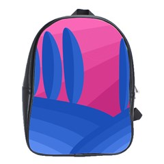 Magenta and blue landscape School Bags(Large)