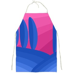 Magenta And Blue Landscape Full Print Aprons