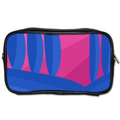 Magenta and blue landscape Toiletries Bags