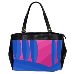 Magenta and blue landscape Office Handbags (2 Sides)