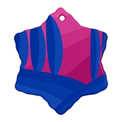 Magenta and blue landscape Ornament (Snowflake)