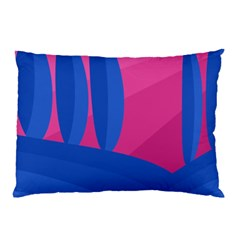 Magenta and blue landscape Pillow Case (Two Sides)