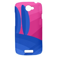 Magenta and blue landscape HTC One S Hardshell Case
