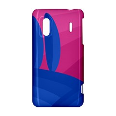 Magenta and blue landscape HTC Evo Design 4G/ Hero S Hardshell Case