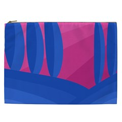Magenta and blue landscape Cosmetic Bag (XXL)