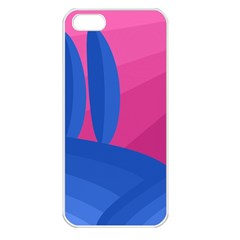 Magenta and blue landscape Apple iPhone 5 Seamless Case (White)