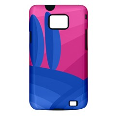 Magenta and blue landscape Samsung Galaxy S II i9100 Hardshell Case (PC+Silicone)