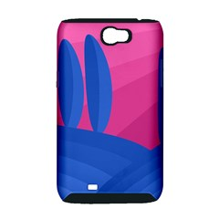 Magenta and blue landscape Samsung Galaxy Note 2 Hardshell Case (PC+Silicone)
