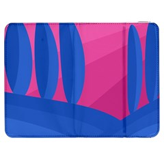 Magenta and blue landscape Samsung Galaxy Tab 7  P1000 Flip Case