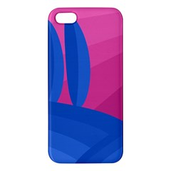 Magenta and blue landscape iPhone 5S/ SE Premium Hardshell Case