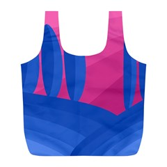 Magenta and blue landscape Full Print Recycle Bags (L)