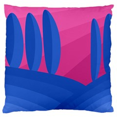 Magenta and blue landscape Standard Flano Cushion Case (Two Sides)