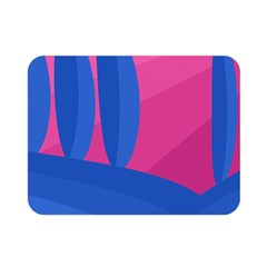 Magenta and blue landscape Double Sided Flano Blanket (Mini)