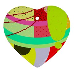 Colorful abstraction by Moma Ornament (Heart)