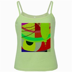 Colorful abstraction by Moma Green Spaghetti Tank