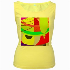 Colorful abstraction by Moma Women s Yellow Tank Top