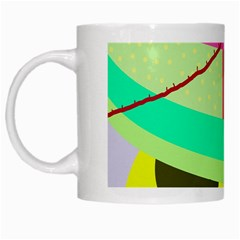 Colorful abstraction by Moma White Mugs