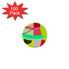 Colorful abstraction by Moma 1  Mini Buttons (100 pack)