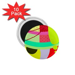 Colorful abstraction by Moma 1.75  Magnets (10 pack)