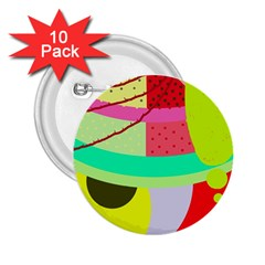 Colorful abstraction by Moma 2.25  Buttons (10 pack)
