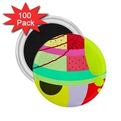 Colorful abstraction by Moma 2.25  Magnets (100 pack)