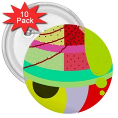 Colorful abstraction by Moma 3  Buttons (10 pack)