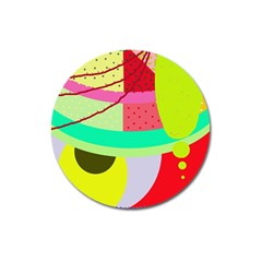 Colorful abstraction by Moma Magnet 3  (Round)