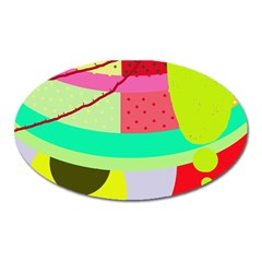 Colorful abstraction by Moma Oval Magnet