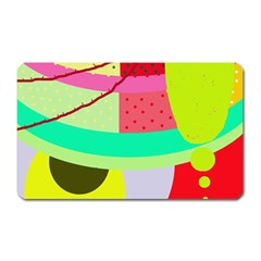 Colorful abstraction by Moma Magnet (Rectangular)