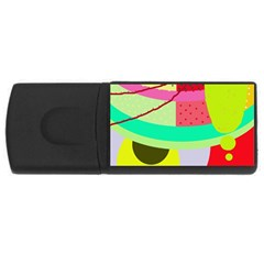 Colorful abstraction by Moma USB Flash Drive Rectangular (1 GB)