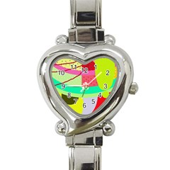 Colorful abstraction by Moma Heart Italian Charm Watch