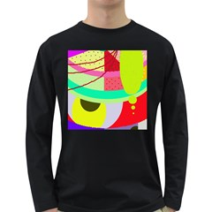 Colorful abstraction by Moma Long Sleeve Dark T-Shirts