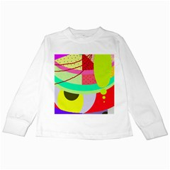 Colorful abstraction by Moma Kids Long Sleeve T-Shirts