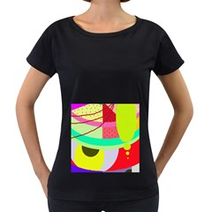 Colorful abstraction by Moma Women s Loose-Fit T-Shirt (Black)