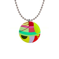 Colorful abstraction by Moma Button Necklaces