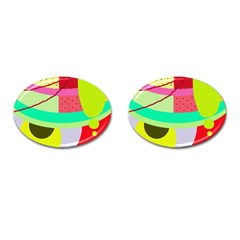 Colorful abstraction by Moma Cufflinks (Oval)