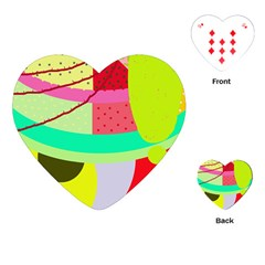 Colorful abstraction by Moma Playing Cards (Heart)