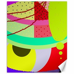 Colorful abstraction by Moma Canvas 8  x 10