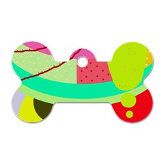 Colorful abstraction by Moma Dog Tag Bone (Two Sides)